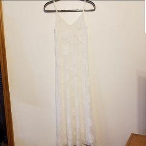 Wilfred Ignace long jacquard clipped slip dress